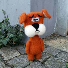 my latest #needlefelted friend #dog #felted #cartoonstyle
