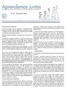 Aprender juntos 20 40  Hoja para padres  de Educación Infantil del Colegio Virgen de Europa