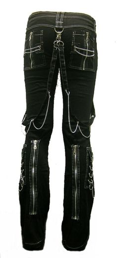 For some reason, I like these... Rage Devastation Gothix Punk Bondage Metal Pants XXL by deathby13