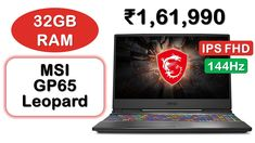 FHD IPS Screen with 144Hz Refresh Rate   Intel i7-10th Generation Processor   8GB NVIDIA Graphics   16GB + 16GB RAM   512GB SSD   1TB HDD   51-Wh Battery   230W Charger   Warranty: 2-Years Top Computer, Best Laptops, Latest Gadgets, Hdd, Charger, Graphics, Best Laptop Computers