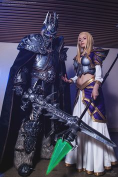 Lich king and Jaina - Natasha(Narga Lifestream) Jaina Proudmoore, Alexey(Aoki) Arthas Menethil Cosplay Photo - Cure WorldCosplay