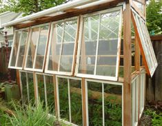 Old window greenhouse by Angela Davis of Washington State. Read more aboout it here: myrubberboots.wordpress.com