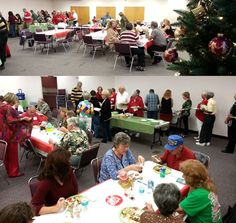 Now having their annual holiday banquet in our meeting room - the Craft Club of Sebastian -