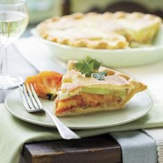 Might be good for either a brunch or as an appetizer. Tomato-Leek Pie | MyRecipes.com