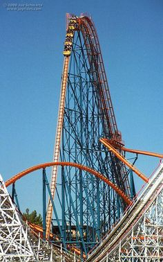 Goliath at Six Flags Magic Mountain. Valencia, California.