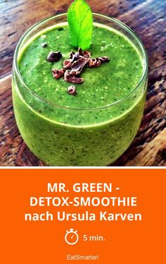 Mr. Green - Detox-Smoothie - nach Ursula Karven | http://eatsmarter.de/rezepte/mr-green-detox-smoothie