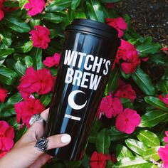 "Our item of the week! FOLLOW us, REPIN this photo, + comment below and one winner will be selected to WIN the ""Witch's Brew Travel Mug""! Winner will be contacted Monday 7/18 on Pinterest. #gypsywarrior"