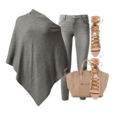 Stockh Lm poncho top ($90), J Brand jeans (sold out), Aquazzura heels ($890) and Celine bag xx #Padgram