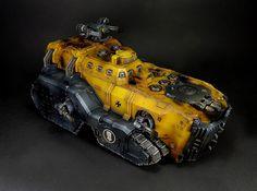 Warhammer 30k Horus Heresy | Imperial Fists | Forgeworld Mastodon Heavy Assault Transport I designed this!
