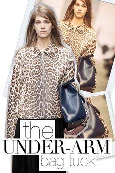 Fall 2013 Fashion Forecast: The Under-Arm Bag Tuck