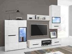 Modern Media Console Tables Stands with Flat Pack for sale Tv Unit, Living Room Furniture, Home Goods, Master Bedroom, Shelves, Cabinet, Storage, Home Decor, Glass