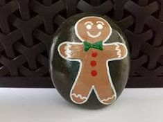 Image result for christmas themed painted rocks