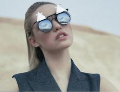GRAZIA Magazine France Sept 2012   Sunglasses: MERCURA NYC m mouse mirror