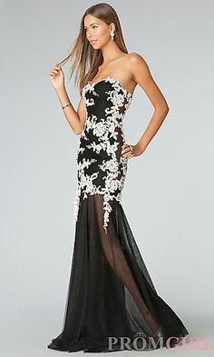 Strapless Long Prom Dress JVN by Jovani at PromGirl.com