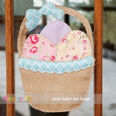 Easter Basket door hangerTrendy Applique and Embroidery Designs