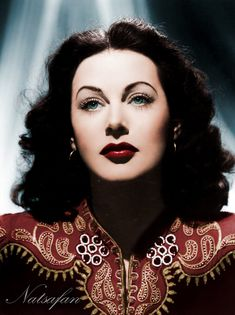 Hedy Lamarr 1940s ~ colored photo by natsafan on DeviantArt