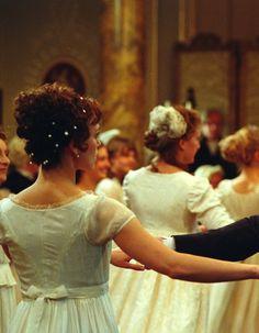 Keira Knightley as Elizabeth Bennet in Pride and Prejudice (2005).