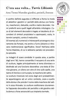 """Anche nel 2015 prosegue il nostro racconto.  Area Terme Maetzke: giardini,  peristili, fontane.  Il nuovo episodio di """"C'era una volta Turris Libisonis""""."""