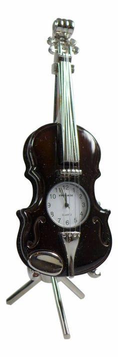 ChicMic Miniaturuhr, Miniatur Uhr - Cello, Streichinstrument -  Vintage Uhr - Sammleruhr - 15x5x5 cm