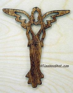 Angel Cross, Baltic Birch Wood Cross for Wall Hanging or Ornament, Item Wooden Crosses, Wall Crosses, Cross Art, Scroll Saw Patterns, Art Patterns, Wood Carving Patterns, Wooden Crafts, Baltic Birch, Woodworking Crafts