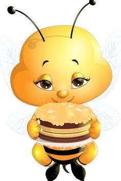lovely cartoon bee set vectors 09