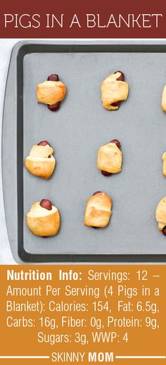 This obviously isn't the best snack to give your kids all the time, but when time calls for a fun snack, this Pigs in a Blanket recipe from Skinny Mom is much healthier than the full fat versions! Your kids will LOVE these!