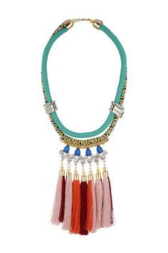 Tassel and Rhinestone Necklace