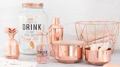 Modern Copper decor trend: decor and shopping ideas could be the perfect addition to your rose gold party