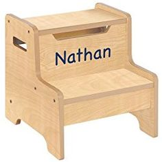 Woodworking 101 Guidecraft Expressions Natural Step Stool with Personalization Purple - - Note that personalization is limited to letters Beginner Woodworking Projects, Learn Woodworking, Kids Stool, Step Stools, World Market Dining Chairs, Wayfair Living Room Chairs, Kids Bookcase, Industrial Chair, Personalized Baby Gifts