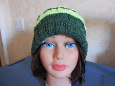 Reflective yellow neon and green hat