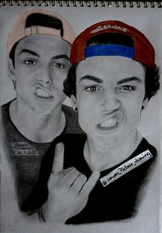 Dolan twins drawing Ethan G Dolan and Grayson B Dolan Graphite drawing Follow my IG for more @rawandrawings