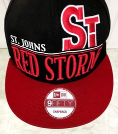 St Johns Snapback Hat 2 Bar Red Storm New Era 9Fifty NCAA Red Men 2 Bar Big  Logo efba72f13a8d