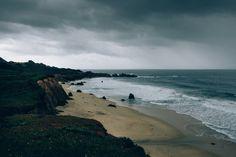 Einsamen Strand