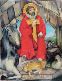 Blaise -- Patron Saint of Throat Ailments, Veterinarians, and Wild Animals