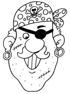 pirate coloring page Pirate Coloring Pages, Pattern Coloring Pages, Coloring Book Pages, Coloring For Kids, Coloring Sheets, Pirate Kids, Pirate Art, Pirate Theme, Pirate Activities