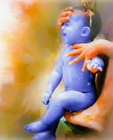 Jinke aane se sab khush ho jate h Mere Krishna Baby Krishna, Radha Krishna Love, Little Krishna, Krishna Leela, Cute Krishna, Lord Krishna Images, Radha Krishna Pictures, Krishna Statue, Ganesha Pictures