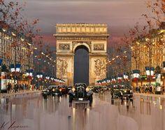 arte do pintor kal gajoum tudoporemail Maurice Utrillo, Georges Seurat, City Painting, Knife Painting, Paint By Number Kits, Paris Art, Watercolor Techniques, Art Design, Pictures To Paint