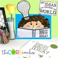 "Super cute writing and craftivity to go along with the ""What do you do with an idea"" book."