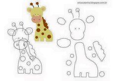 Amigas do Feltro!: Molde Safári Erica Catarina - A series of felt animal patterns that could be used for applique, too. Felt Animal Patterns, Stuffed Animal Patterns, Felt Diy, Felt Crafts, Erica Catarina, Sewing Crafts, Sewing Projects, Animal Templates, Baby Mobile