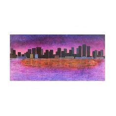 TITLE: Close to Detroit MEDIUM: Acrylic Painting on Canvas #bestoftheday #collectors #collection #art #acrylics #artlovers #artwatchers #studio #idealgift #gift #detroit #detroitart #michiganartist