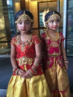 Manchu Vishnu Daughters in Lehenga   Indian Dresses