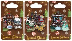 New Holiday Gingerbread House Limited Edition Pins at Walt Disney World