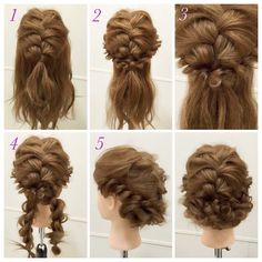 Fish braid hair design