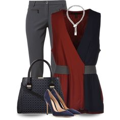 Victoria Beckham Top & Bag by lucianasmith on Polyvore featuring polyvore, fashion, style, Victoria Beckham, LUISA CERANO, Gianvito Rossi and Christofle