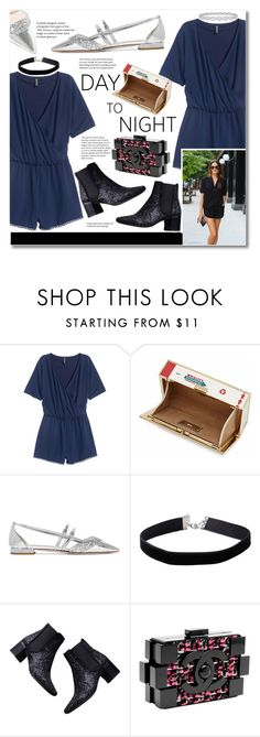 """""""Glittered Shoes"""" by igedesubawa ❤ liked on Polyvore featuring Anya Hindmarch, Miu Miu, Miss Selfridge, Epoque, Zara, Chanel, DayToNight, romper and contestentry"""