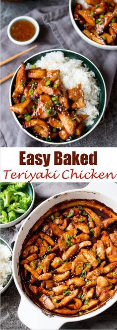 So simple and tasty – the whole family will love this baked teriyaki chicken. So simple and tasty – the whole family will love this baked teriyaki chicken. Healthy Diet Recipes, Cooking Recipes, Freezer Cooking, Freezer Meals, Easy Tasty Recipes, Cooking Tips, Cooking Cake, Freezer Recipes, Dog Recipes