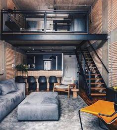 Marvelous Interior Design Ideas For Home That Looks Cool 36 Loft Interior Design, Loft Design, Home Interior, Interior Design Inspiration, House Design, Design Ideas, Modern Interior, Interior Architecture, Mezzanine Design