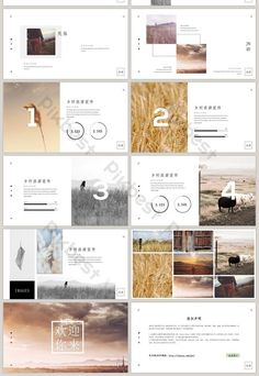elegant and simple style country travel brochure promotion ppt template