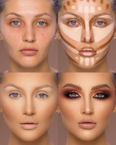 37 Tutorial for pretty makeup for beginners and students 2019 - Beauty Make-Up Best Contouring Products, Contouring And Highlighting, Best Makeup Products, Best Highlighter Makeup, Makeup Tips Contouring, Highlight Contour Makeup, Eyebrow Makeup, Liquid Makeup, What Is Contour Makeup