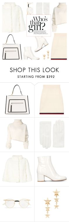 """""""Who's that Girl?"""" by rasa-j ❤ liked on Polyvore featuring Fendi, Gucci, Ann Demeulemeester, RED Valentino, Yves Salomon, Gianvito Rossi and womensFashion"""